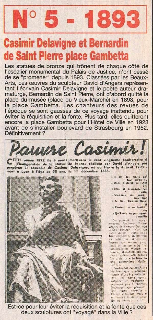 Statues de Casimir DELAVIGNE et Bernardin de SAINT-PIERRE 1995-012