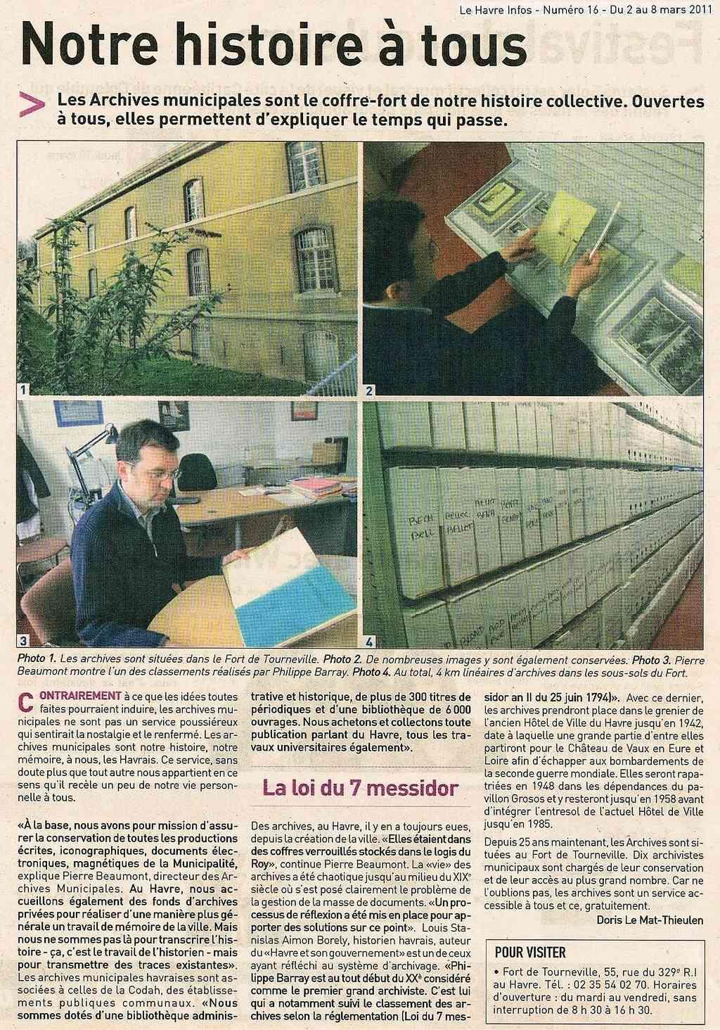 Archives Municipales du Havre - Notre histoire à tous 2011-013