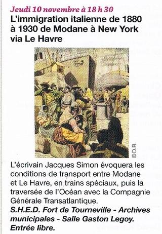 Havre - L'immigration italienne transitant par Le Havre par SIMON (SHED) 2016-111