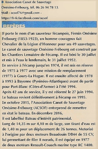 Canot de sauvetage Onésime FRÉBOURG 2016-137