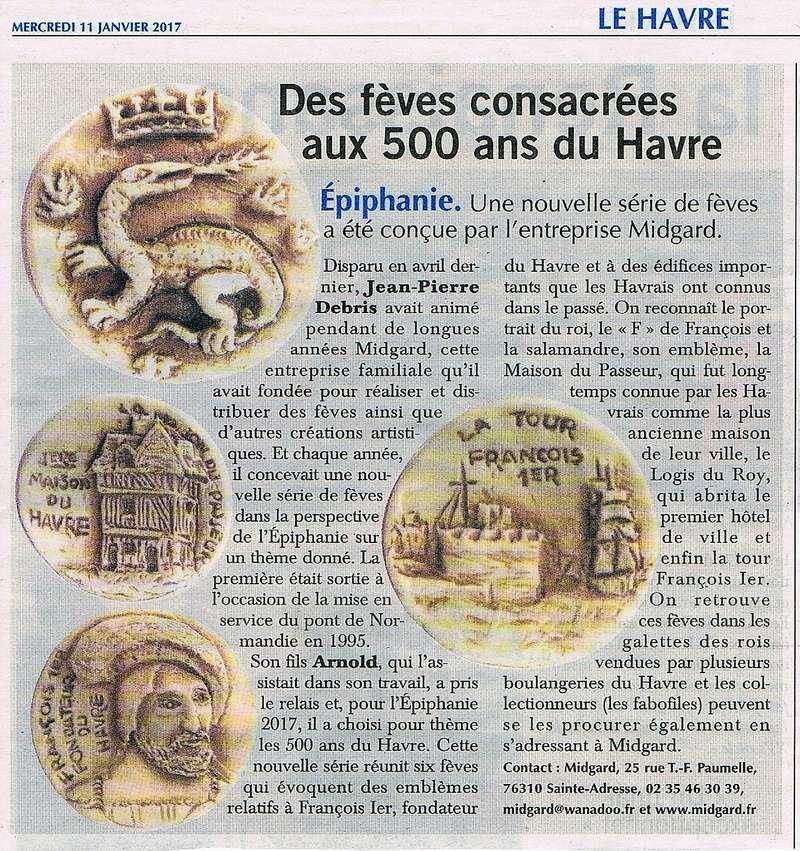 Havre - Des fèves consacrées aux 500 ans du Havre 2017-014