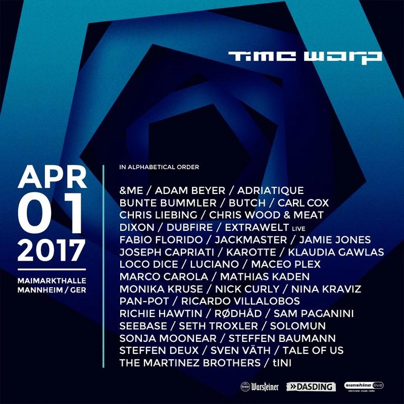 TIME WARP - 1 Avril 2017 - Maimarkthalle - Mannheim - Allemagne Lineup17