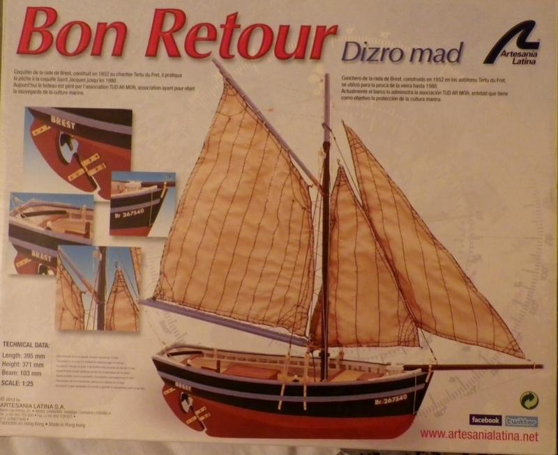 """Pas à pas d'une maquette terminée : """"Le Bon Retour"""" Coquiller de la rade de Brest. Kit AL au 1/50ème 011"""