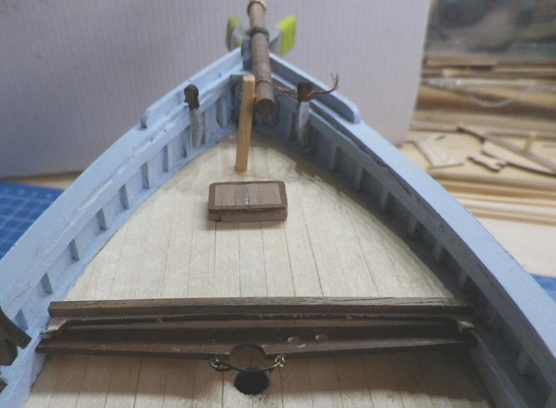"""Pas à pas d'une maquette terminée : """"Le Bon Retour"""" Coquiller de la rade de Brest. Kit AL au 1/50ème 1411"""