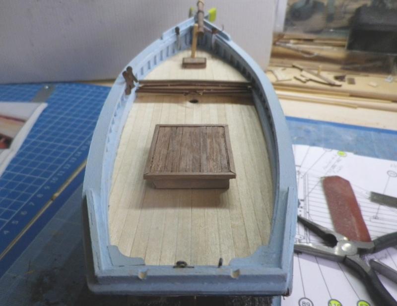 """Pas à pas d'une maquette terminée : """"Le Bon Retour"""" Coquiller de la rade de Brest. Kit AL au 1/50ème 1511"""