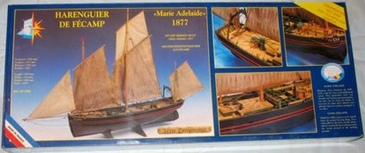 """Pas à pas d'une maquette terminée : le """"Marie-Adéaïde"""" - Harenguier. Kit Soclaine au 1/50ème 1_maqu10"""