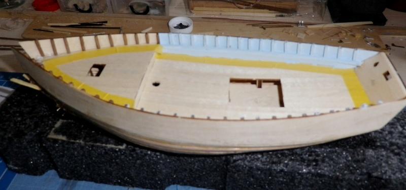 """Pas à pas d'une maquette terminée : """"Le Bon Retour"""" Coquiller de la rade de Brest. Kit AL au 1/50ème 414"""