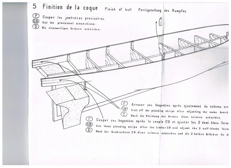 """Pas à pas d'une maquette terminée : le """"Marie-Adéaïde"""" - Harenguier. Kit Soclaine au 1/50ème Bloc_b10"""