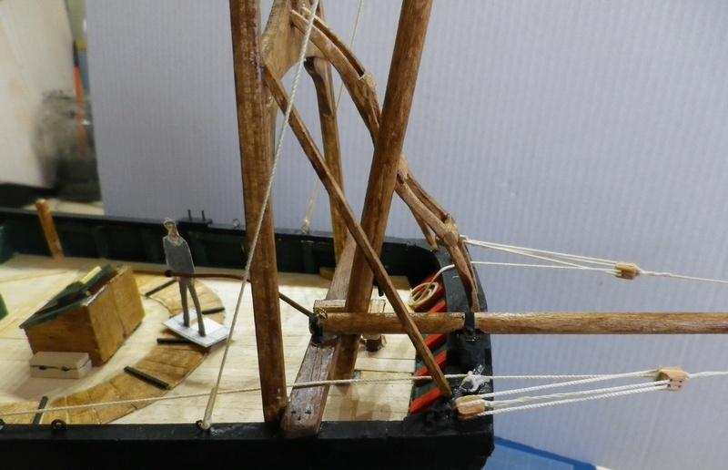 """Pas à pas d'une maquette terminée : le """"Marie-Adéaïde"""" - Harenguier. Kit Soclaine au 1/50ème Imgp3744"""