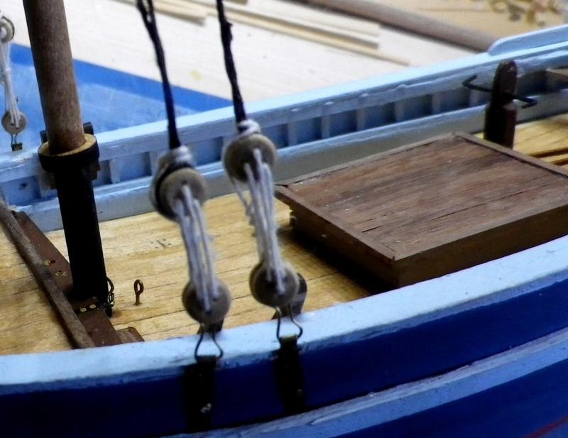 """Pas à pas d'une maquette terminée : """"Le Bon Retour"""" Coquiller de la rade de Brest. Kit AL au 1/50ème Imgp4129"""