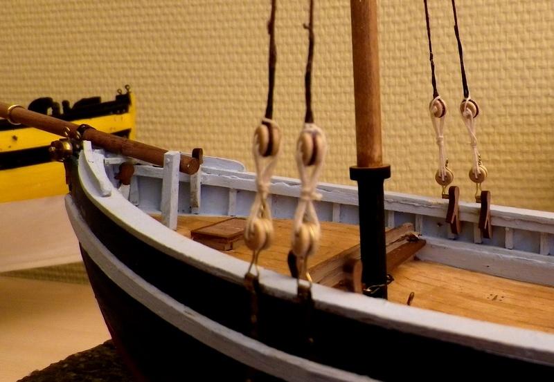 """Pas à pas d'une maquette terminée : """"Le Bon Retour"""" Coquiller de la rade de Brest. Kit AL au 1/50ème Imgp4130"""
