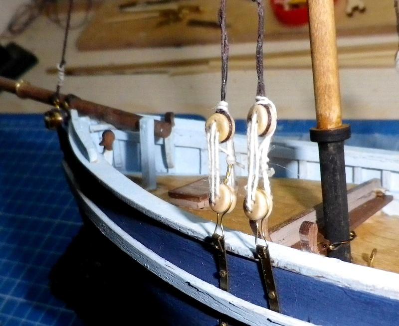 """Pas à pas d'une maquette terminée : """"Le Bon Retour"""" Coquiller de la rade de Brest. Kit AL au 1/50ème Imgp4131"""