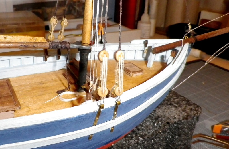 """Pas à pas d'une maquette terminée : """"Le Bon Retour"""" Coquiller de la rade de Brest. Kit AL au 1/50ème Imgp5158"""