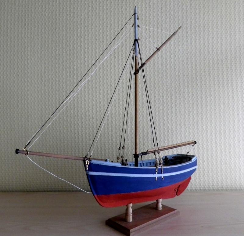"""Pas à pas d'une maquette terminée : """"Le Bon Retour"""" Coquiller de la rade de Brest. Kit AL au 1/50ème Imgp5164"""