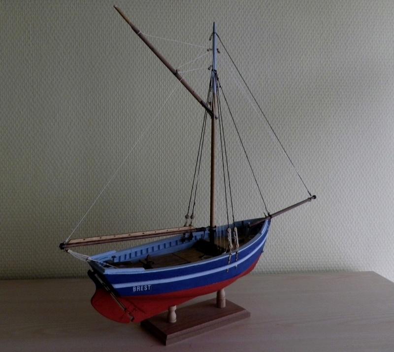 """Pas à pas d'une maquette terminée : """"Le Bon Retour"""" Coquiller de la rade de Brest. Kit AL au 1/50ème Imgp5165"""
