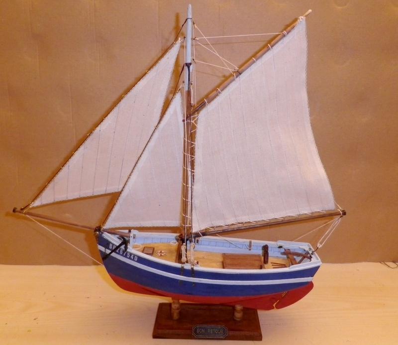 """Pas à pas d'une maquette terminée : """"Le Bon Retour"""" Coquiller de la rade de Brest. Kit AL au 1/50ème Imgp5170"""