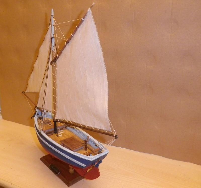 """Pas à pas d'une maquette terminée : """"Le Bon Retour"""" Coquiller de la rade de Brest. Kit AL au 1/50ème Imgp5173"""
