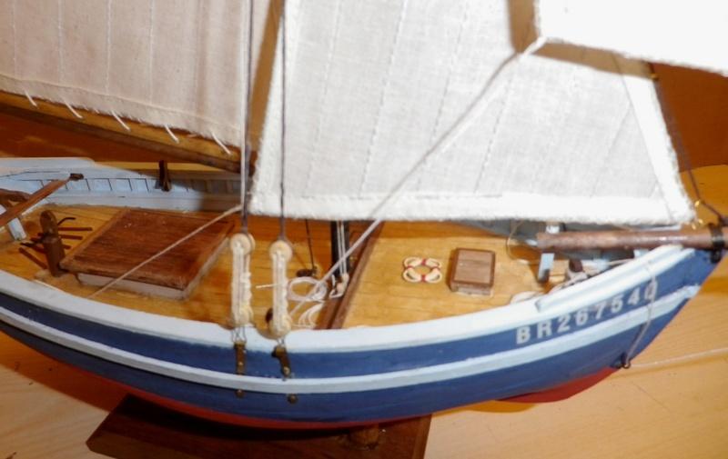 """Pas à pas d'une maquette terminée : """"Le Bon Retour"""" Coquiller de la rade de Brest. Kit AL au 1/50ème Imgp5177"""