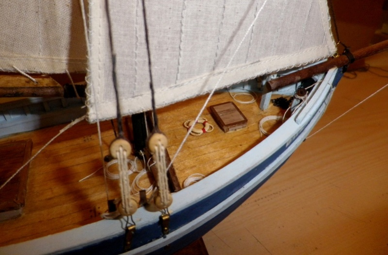 """Pas à pas d'une maquette terminée : """"Le Bon Retour"""" Coquiller de la rade de Brest. Kit AL au 1/50ème Imgp5179"""