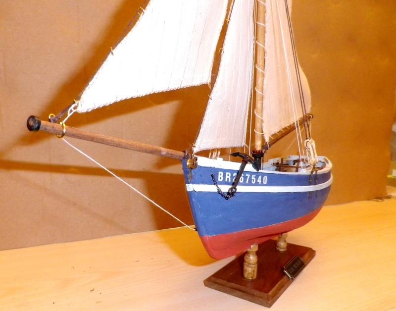 """Pas à pas d'une maquette terminée : """"Le Bon Retour"""" Coquiller de la rade de Brest. Kit AL au 1/50ème Imgp5180"""