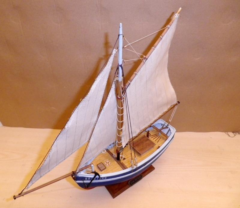 """Pas à pas d'une maquette terminée : """"Le Bon Retour"""" Coquiller de la rade de Brest. Kit AL au 1/50ème Imgp5181"""