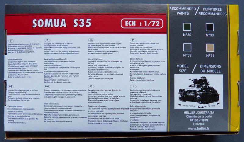 [HELLER] Char Somua S35 - 1/72 Somuas11