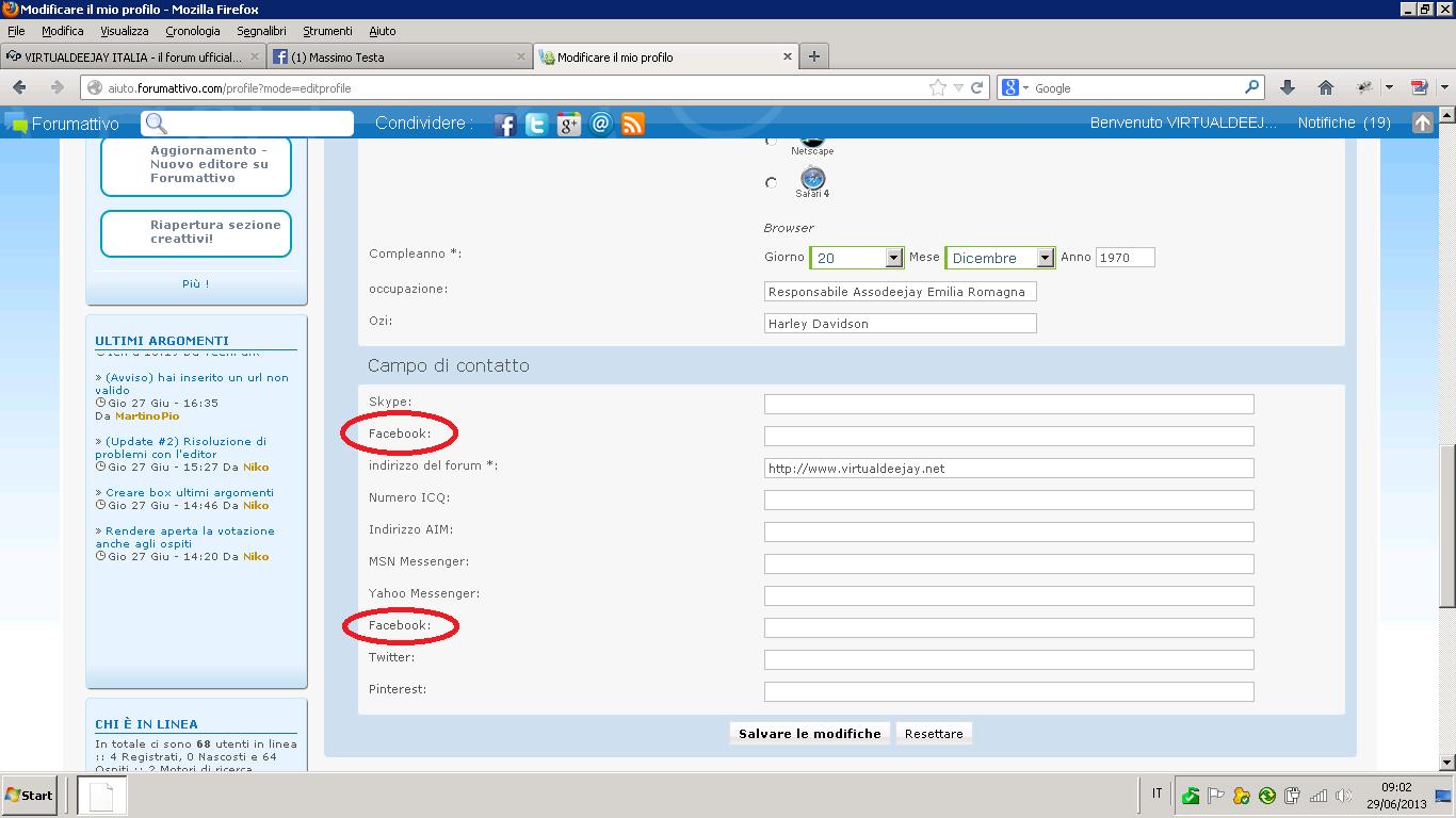 Bug nella condivisione degli argomenti su myspace Profil10