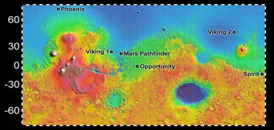 [Mars] De l'eau découverte par la sonde MRO? - Page 2 Landin10