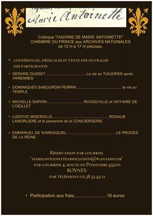 Marie-Antoinette : Colloque aux Archives Nationales 13 décembre 2016 - Page 2 Thumbn10
