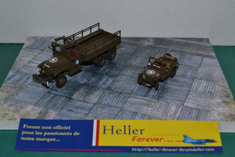 "La 2ème DB ""Jeep - GMC CCKW353 - Sherman M4a2""  [Heller 1/72] - Page 2 Dsc_0053"