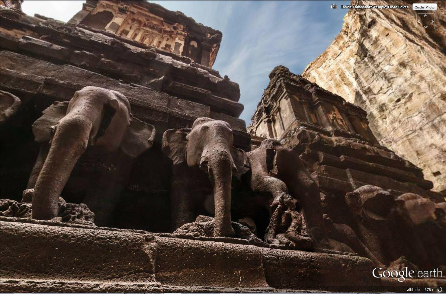 Temple de Kailasa et grottes de Ellora (Inde) Tsge_113