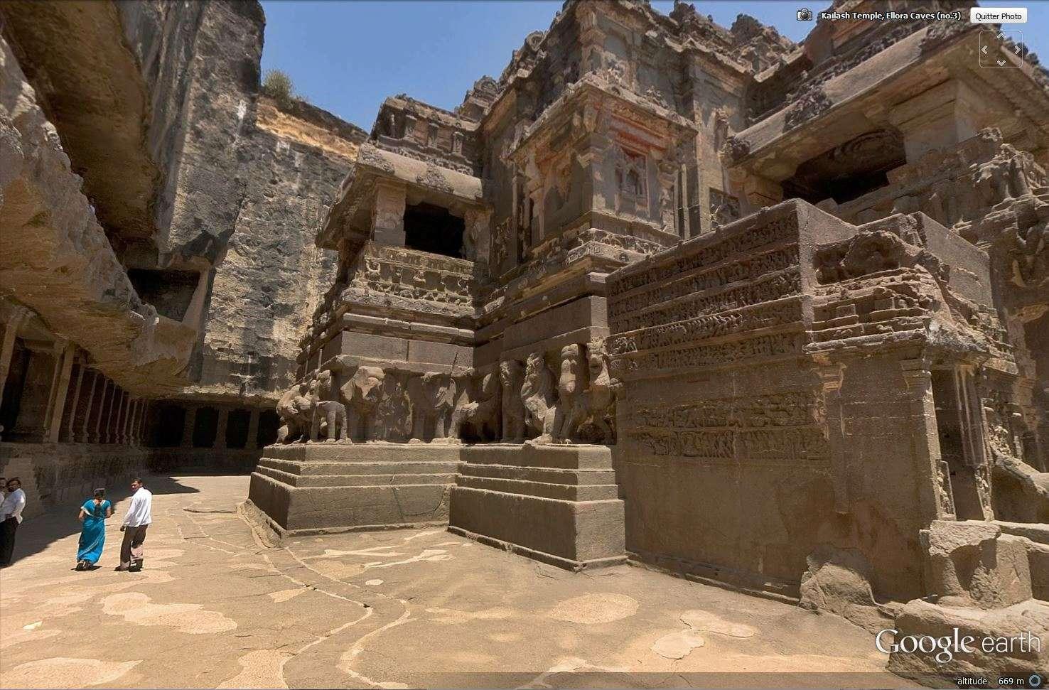 Temple de Kailasa et grottes de Ellora (Inde) Tsge_119