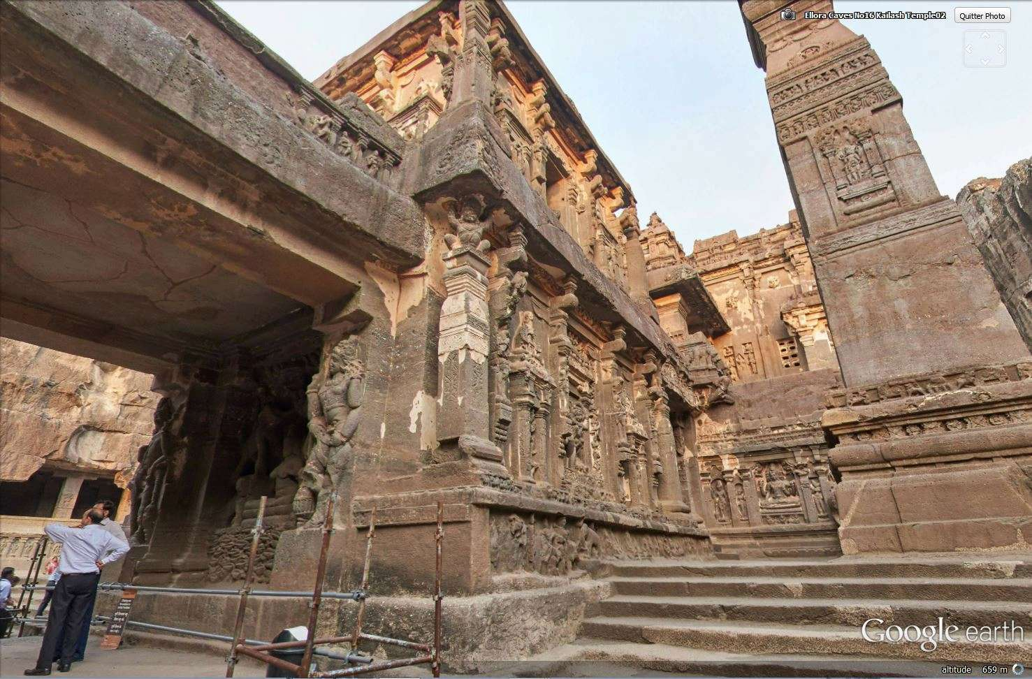 Temple de Kailasa et grottes de Ellora (Inde) Tsge_121