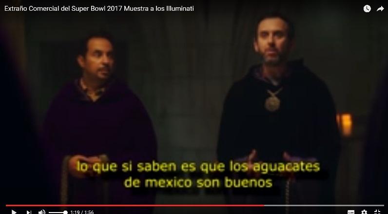 COMERCIAL ILLUMINATI SOBRE EL AGUACATE MEXICANO Dom25