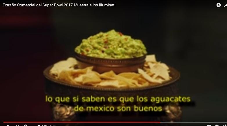 COMERCIAL ILLUMINATI SOBRE EL AGUACATE MEXICANO Dom26