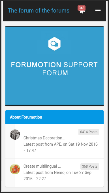 New update : New design for forums Administration Panel + Classified ads mobile pages + mobile banner 21-11-11