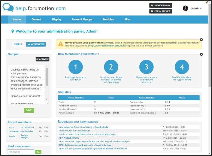 New update : New design for forums Administration Panel + Classified ads mobile pages + mobile banner 2310