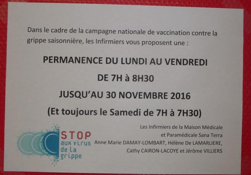 permanences pour la campagne de vaccination contre la grippe  Grippe10