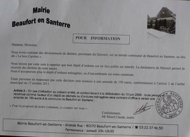 message de BEAUFORT en SANTERRE : déchets sauvages Lq_bea10