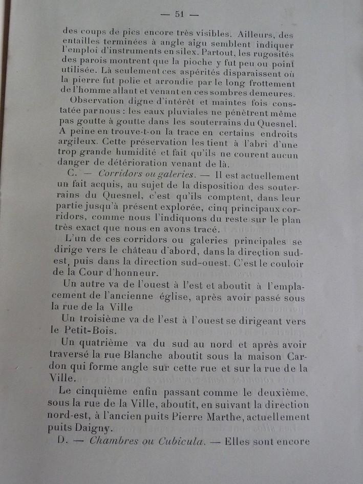 Les sous terrains  refuges de Le Quesnel (souterrains) P1200312