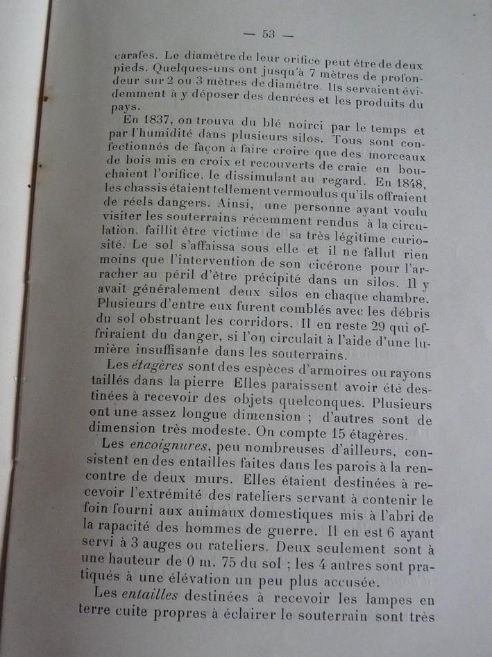 Les sous terrains  refuges de Le Quesnel (souterrains) P1200315