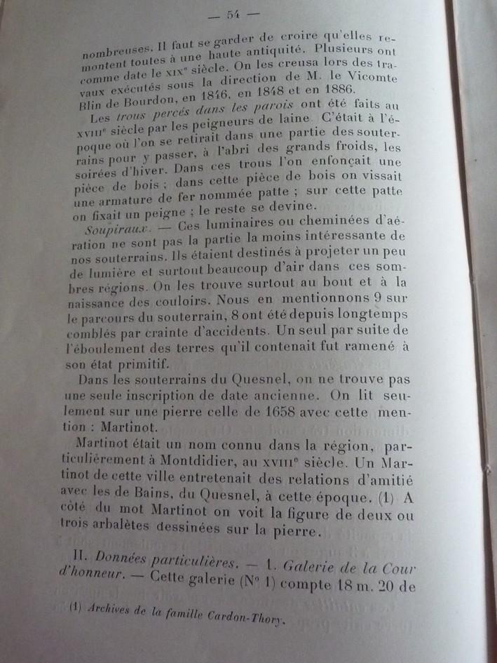 Les sous terrains  refuges de Le Quesnel (souterrains) P1200319
