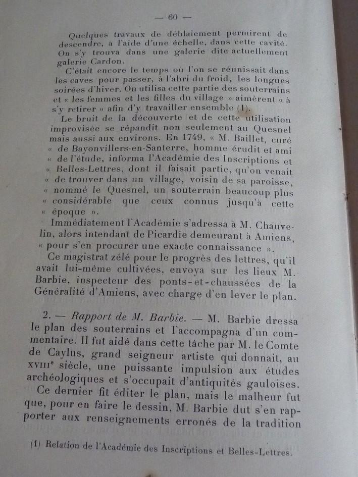 Les sous terrains  refuges de Le Quesnel (souterrains) P1200324