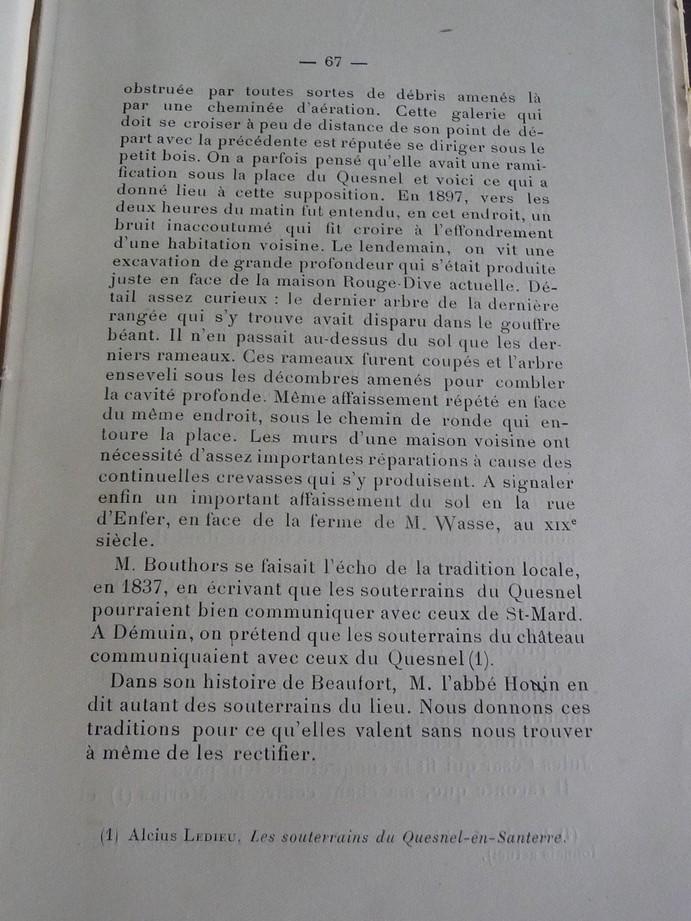 Les sous terrains  refuges de Le Quesnel (souterrains) P1200332