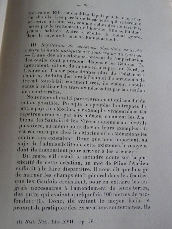 Les sous terrains  refuges de Le Quesnel (souterrains) P1200337