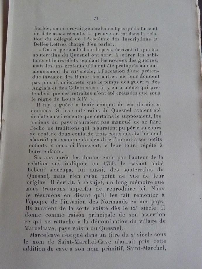 Les sous terrains  refuges de Le Quesnel (souterrains) P1200338