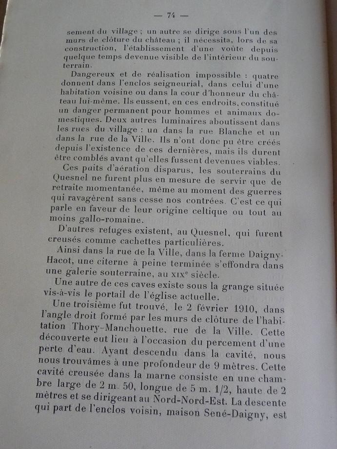 Les sous terrains  refuges de Le Quesnel (souterrains) P1200339