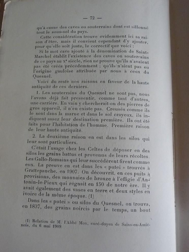 Les sous terrains  refuges de Le Quesnel (souterrains) P1200340