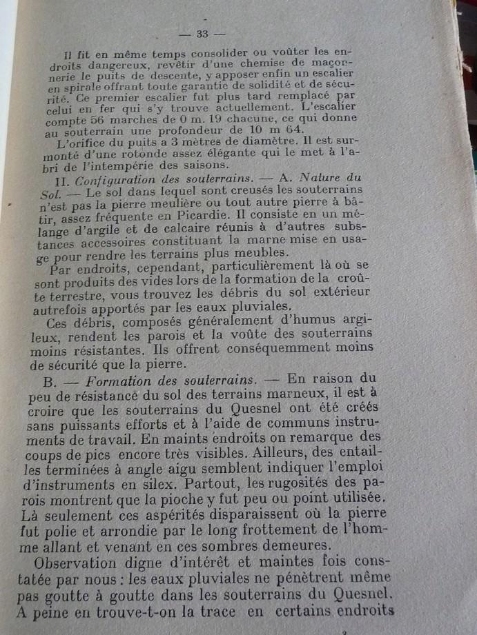 Les sous terrains  refuges de Le Quesnel (souterrains) P1200350