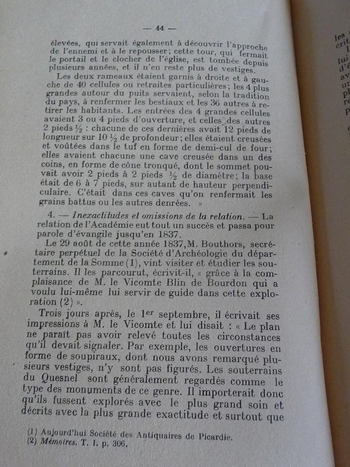 Les sous terrains  refuges de Le Quesnel (souterrains) P1200357